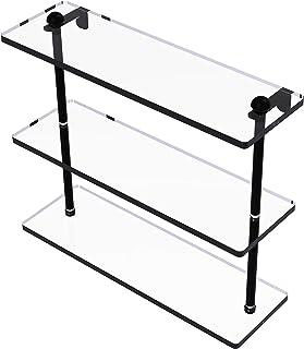 16 Inch Triple Tiered Glass Shelf - RC-5/16-BKM