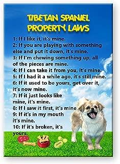 Tibetan Spaniel Property Laws Fridge Magnet