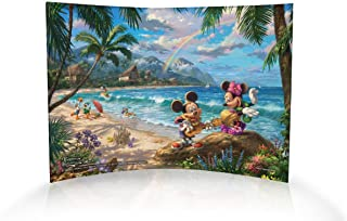 Trend Setters Disney's Mickey and Minnie Mouse in Hawaii Curved Acrylic Print - Home Decor Thomas Kinkade Artwork 10