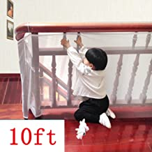 Kalolary Child Safety Rail Net-10ft L x 2.5ft H Indoor Balcony and Stairway Safety Net,Baby Toddlers Kids Pet Banister Stair Net Protector,for Kids/Pet/ Toy Safety