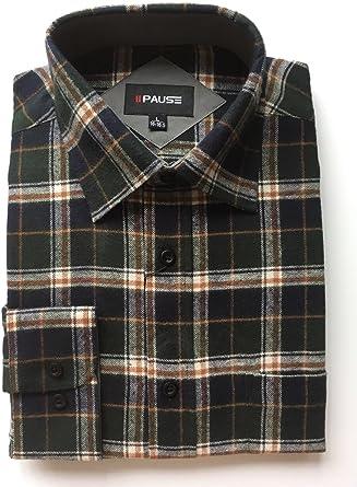 Private Member Camisa de franela para hombre con leñador para hombre, 100% algodón, talla M-5XL