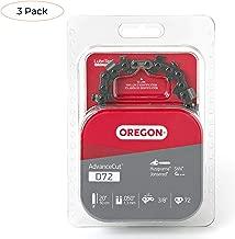 Oregon D72 AdvanceCut 20-Inch Chainsaw Chain, Fits Husqvarna, Remington, Makita, Stihl and Others (Thrее Расk)