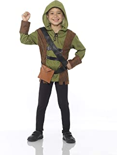 Storybook Archer Costume Set - Halloween Boys Medieval Hooded Outfit