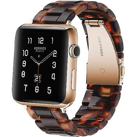 Sundaree® Compatible with Apple Watch バンド 38&40mm、ファッションな樹脂製ブレスレット 時計バンドfor iWatchバンド 、スポーツ&エディション バンド メタルステンレススチールバックル for アップルウォッチ シリーズSE/6/5/4/3/2/1 (亀の石の色 38mm)