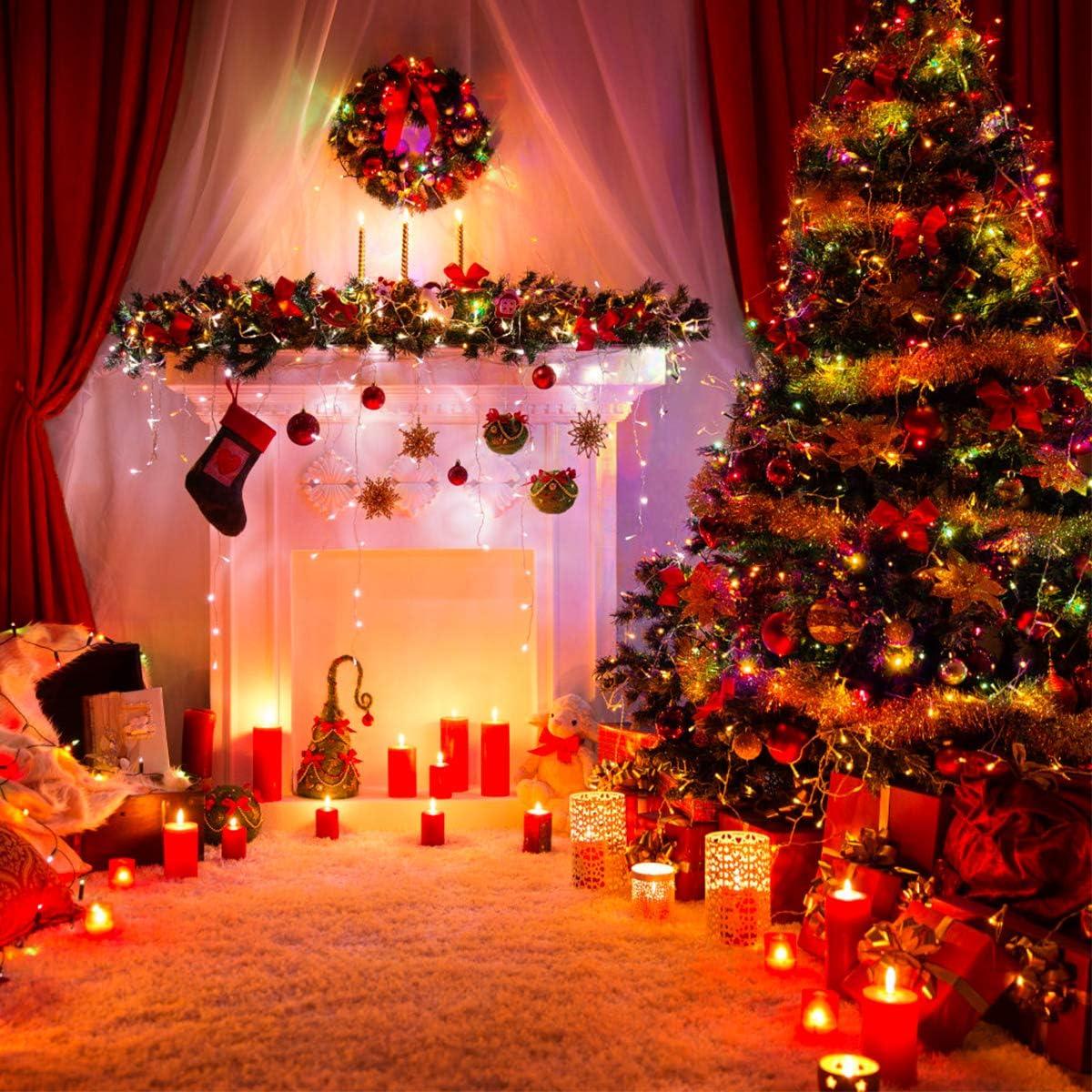 Fodlon 4 Pcs Christmas Decoration Tinsel Shiny Festive Tinsel for Christmas Tree Wedding Birthday Party Decorations Gold Metallic Christmas Tree Tinsel 2M Xmas Tinsel Garland