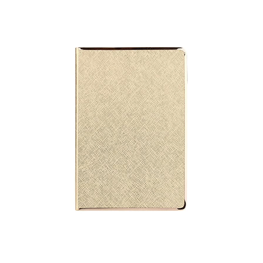 JINSHANDIANLIAO ノートブック、パーソナライズされたクリエイティブオフィスの議事録、作業マニュアル、簡単な文学日記、金、銀 高品質の事務用品 (Color : Gold)