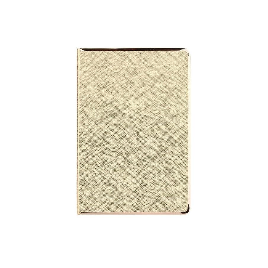 Muziwenju ノートブック、パーソナライズされたクリエイティブオフィスの議事録、作業マニュアル、簡単な文学日記、金、銀 高品質の製品 7 (Color : Gold)
