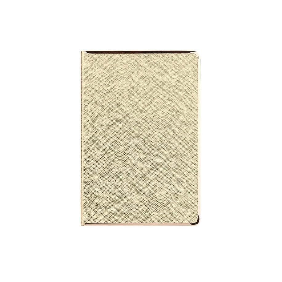 Guyuexuan ノートブック、パーソナライズされたクリエイティブオフィスの議事録、作業マニュアル、簡単な文学日記、金、銀 高品質の製品 4 (Color : Gold)