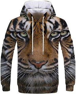 3D Sweater Pullover Hoodie Men and Women Couple Shirt Sweatshirt Digital Printing Loose Casual Baseball Uniform Kangaroo P...