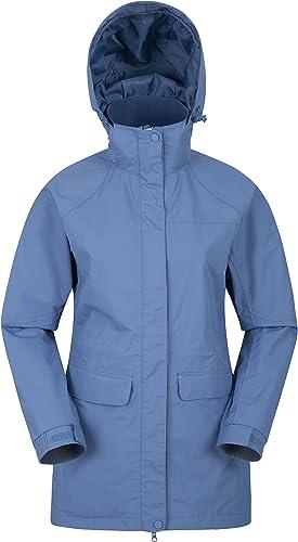 Mountain Warehouse Glacial wasserdichte Damenjacke - warme, atmungsaktive Freizeit-Regenjacke, versiegelte N hte, abnehmbare Kapuze - ideale Damen-Wanderkleidung, Frühling