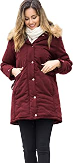 Womens Winter Coats Hooded Thicken Warm Winter Parka with Faux Fur Jackets