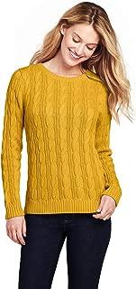 Women's Petite Drifter Cotton Cable Knit Crewneck Sweater