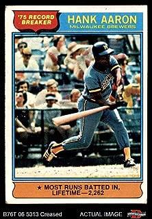 hank aaron 1976 topps baseball card
