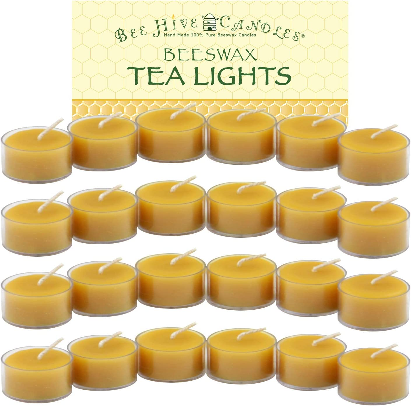 Bee Hive Max 47% OFF Candles 100% Pure Easy-to-use 24-Case Tea Light Beeswax