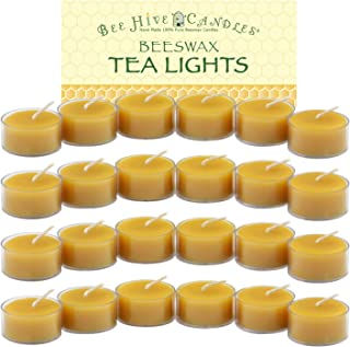 Bee Hive Candles 100% Pure Beeswax Tea Light Candles (24-Case)