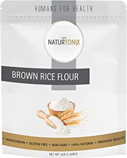 Sponsored Ad - Brown Rice Flour, 3LB's, Gluten Free and Non GMO, Certified Kosher, Product of the USA