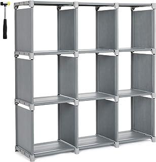 d296d051d93d SONGMICS 9 Cube DIY Cube Storage Shelves Open Bookshelf Closet Organizer  Rack Cabinet Gray ULSN45GY