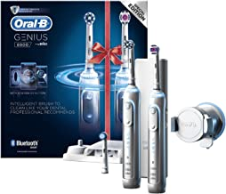 اورال-بي جينيس 8900 فرشاة اسنان كهربائية قابلة للشحن مدعوم من براون - مجموعة بمقبضين