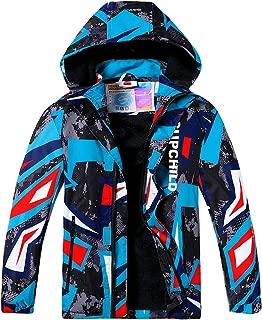 Aiyuke Boys Rain Jacket Outdoor Light Waterproof Jackets Raincoat Hooded Light Windbreaker for Camping Hiking