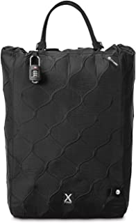 Pacsafe Travelsafe X25-25 Liter Portable Lockbox for Travel (Flat Fits 15 inch Laptop incl. TSA Accepted Combination Lock with Patented, Stainless Steel Mesh Design (Black)