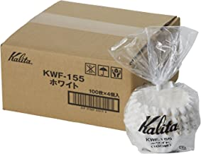 Kalita [4set] New Wave Filter KWF-155 White #22213[Dripper 155 / for 1~2 Persons] 100pcs×4 with an Original Paperclip