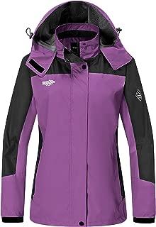 Wantdo Women's Rain Shell Jacket Windproof Breathable Raincoats with Hood