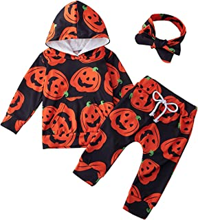 Newborn Baby Girl Outfit Clothes Hoodie Pants with Headband 3 Pcs Set