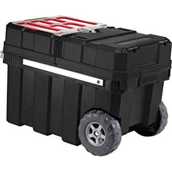 Keter 237787 - Caja de herramientas con ruedas, color negro y rojo: Amazon.es: Bricolaje y herramientas