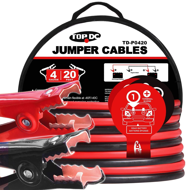 TOPDC Jumper Cables Gauge Booster