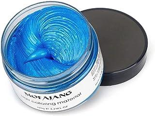 MOFAJANG Hair Coloring Dye Wax, Instant Hair Wax, Temporary Hairstyle Cream 4.23 oz, Hair Pomades, Natural Hairstyle Wax f...