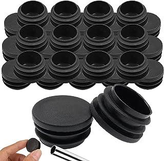 GZLCEU 30 tapones de tubo redondos de plástico para tubos de acero, sillas, muebles, bastones de paseo, soporte de metal (...