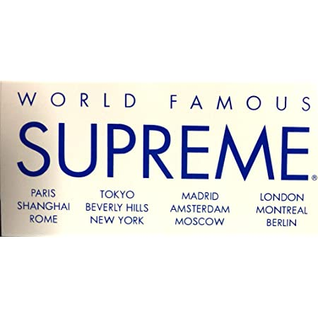 supreme(シュプリーム)ステッカー WORLD FAMOUS WT