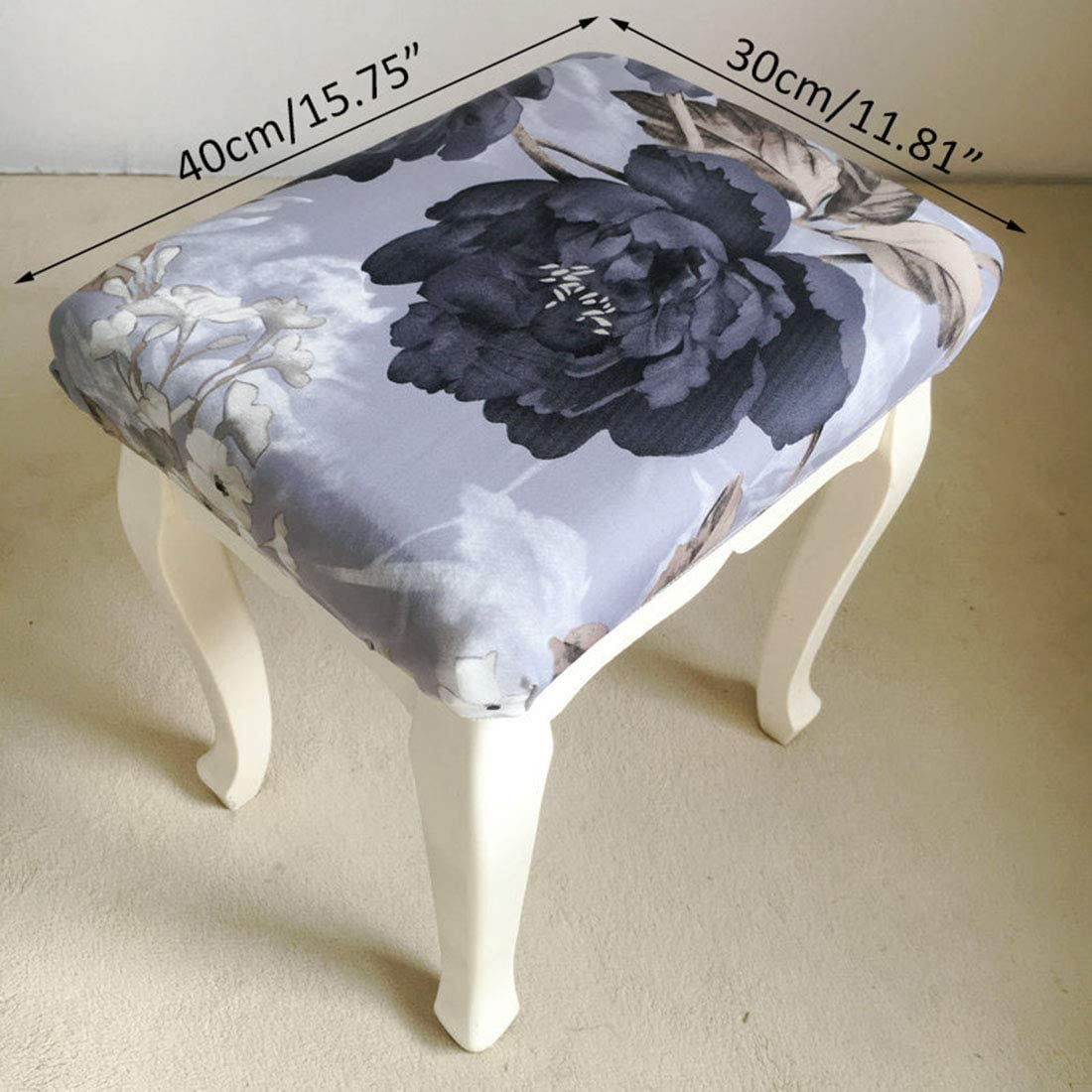 Surrui Stool Covers Breathable Chair Seat Slipcover for Rectangle Stools #10