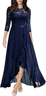 Sponsored Ad - Miusol Women's Elegant Floral Lace Ruffle Bridesmaid Maxi Dress