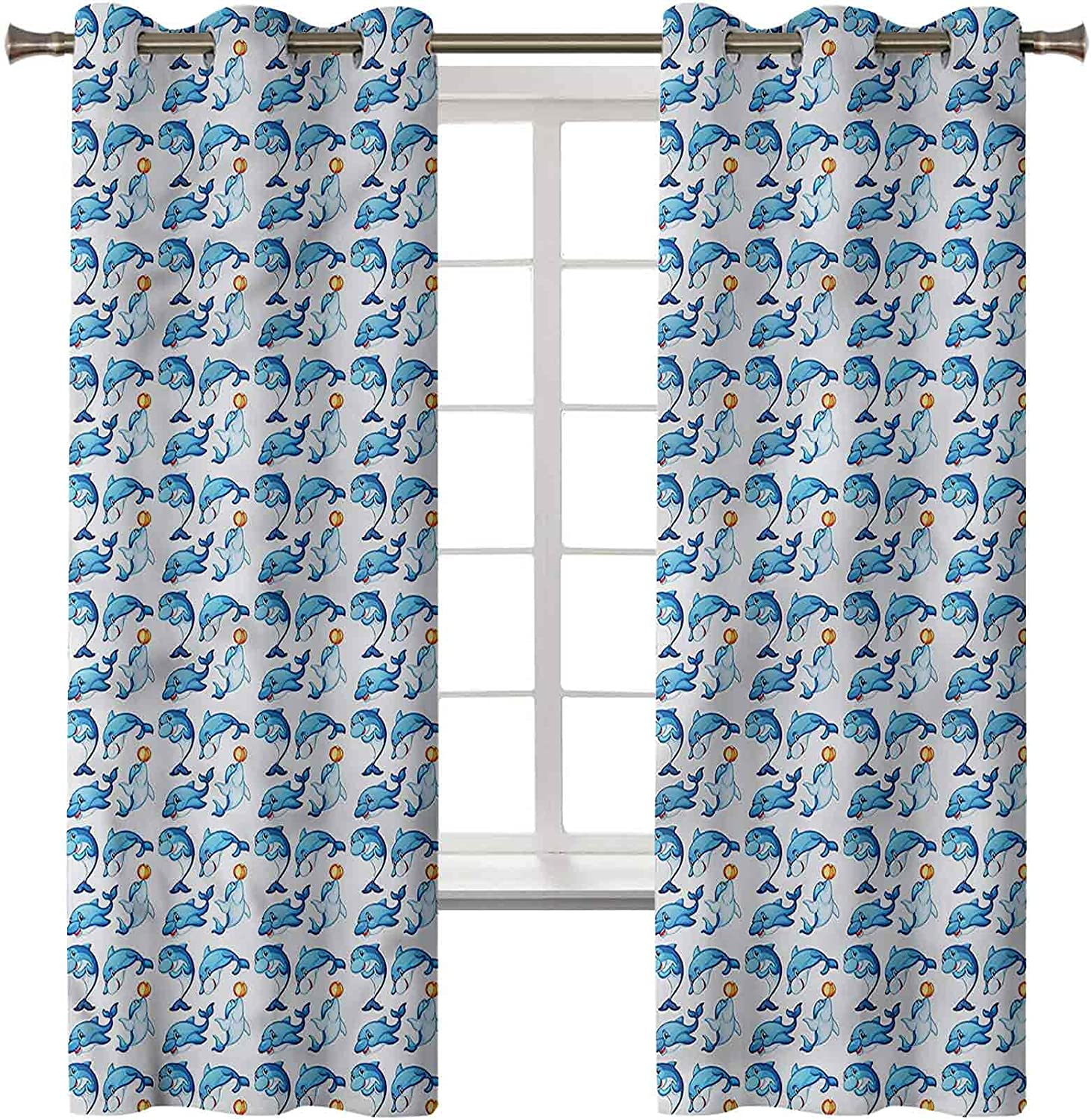3D Printed Blackout Curtains Thermal Sales for sale Drapes Insulated Sacramento Mall Noise Red