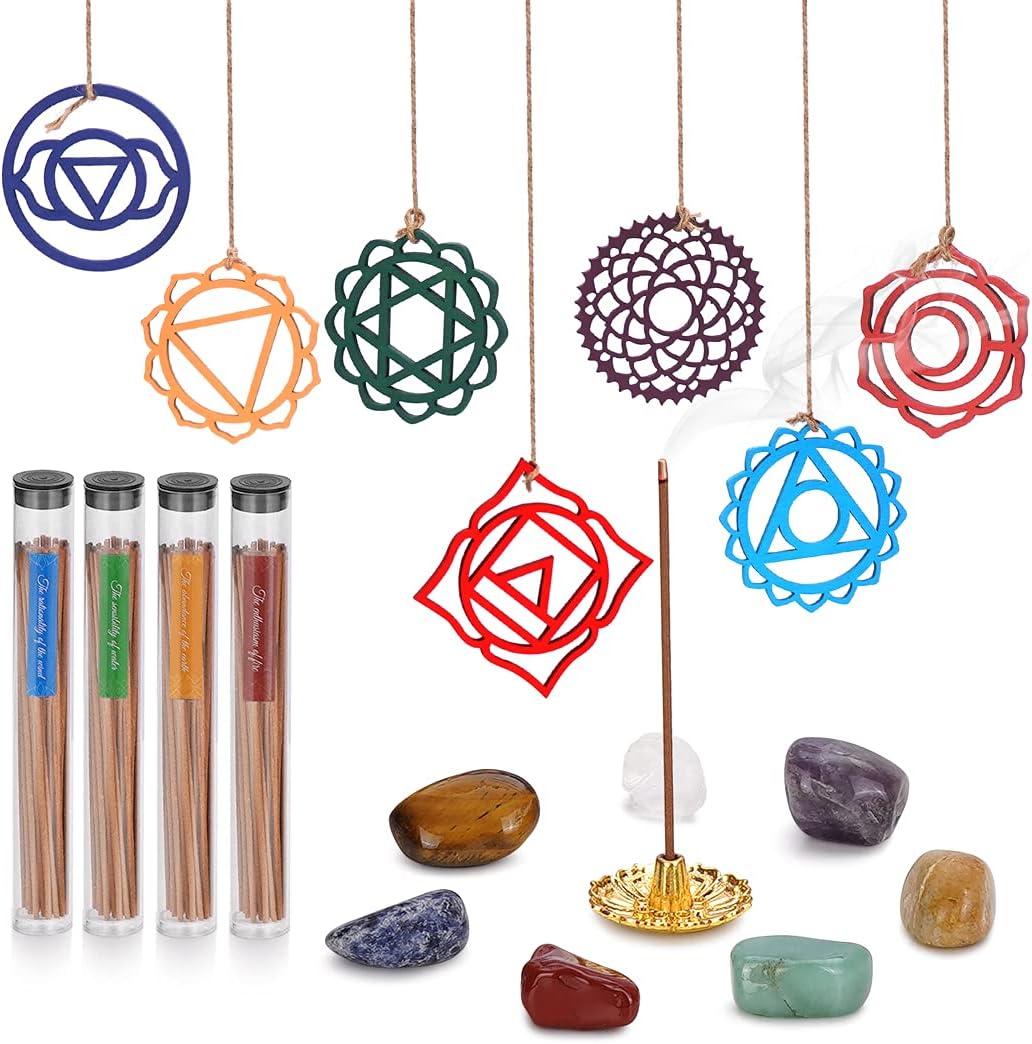 Soulnioi Incense store Chakra Crystals Free shipping / New Sticks Kit 140