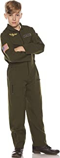 Khaki Boys Child Flight Suit Costume