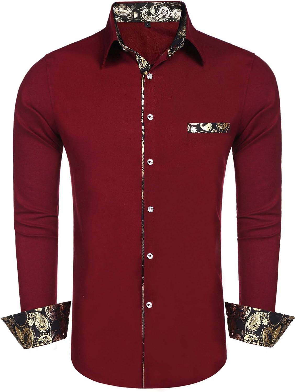 Daupanzees Men Cotton Linen Shirts Long Sleeve Luxury Design Paisley Print  Dress Shirt Casual Button Down Shirt at Amazon Men's Clothing store