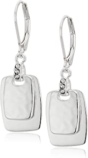 Nine West Silver-Tone Crystal Drop Earrings