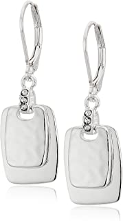 silver glass earrings