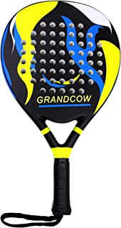 GRANDCOW Tennis Padel Paddle Pro Carbon Fiber Power Lite Pop EVA Foam Beach Paddle Tennis Paddleball