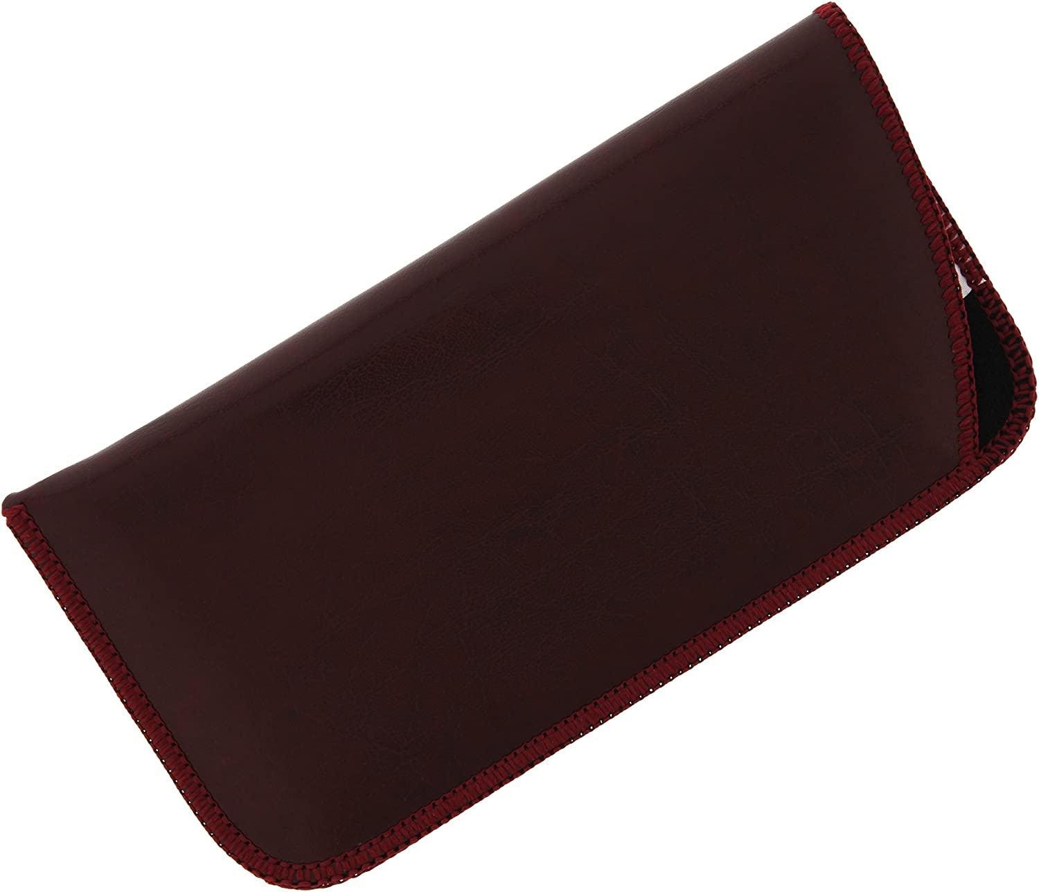 Faux Leather Eyeglass Slip Case In Navy, Gray, Black, Burgundy, And Hunter Green