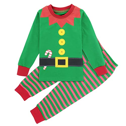 A&J DESIGN Kids Boys & Girls Xmas Halloween Pajamas Sets (Long Sleeve 9 Months-