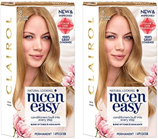 Clairol Root Touch-Up Permanent Hair Color Creme, 8 Medium Blonde, 2 Count