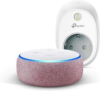 Echo Dot (3ª generazione) - Tessuto malva +TP-Link HS100 Presa intelligente Wi-Fi, compatibile con Alexa