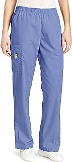 WonderWink Women's Scrubs Quebec Full Elastic Cargo Pant, Ceil Blue, Large/Tall