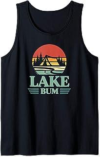 Lake Bum Camping Tent Sunset Lake Life Christmas Gift Tank Top