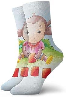 Luxury Calcetines de Deporte Monkey Play Dice Women & Men Socks Soccer Sock Sport Tube Stockings Length 11.8Inch