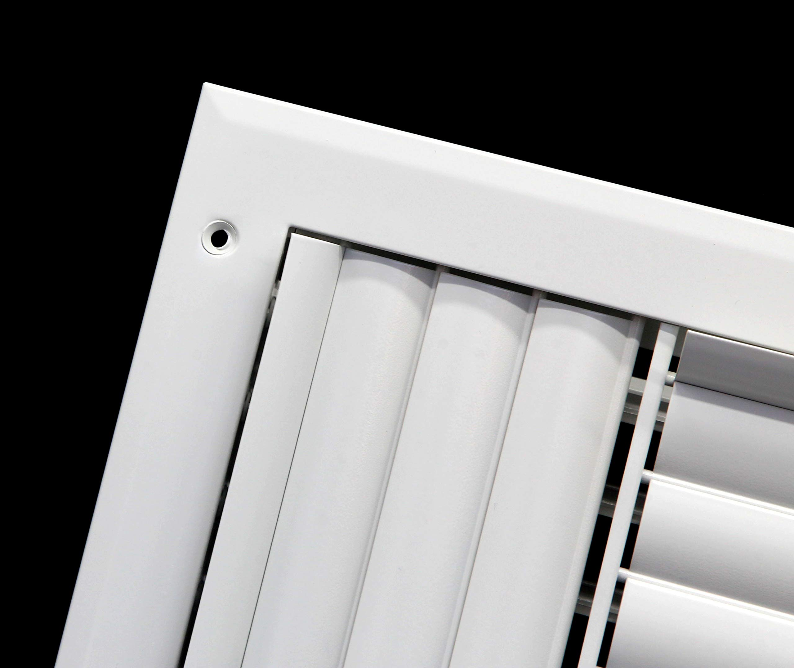 HVAC Grille Maximum Air Flow Adjustable Aluminum Curved Blades 12 x 4-1-Way Air Vent