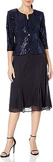 مدل لباس مجلسی زنانه چای مدل Alex Evenings با کت سکویین (اندازه های کوچک و معمولی)